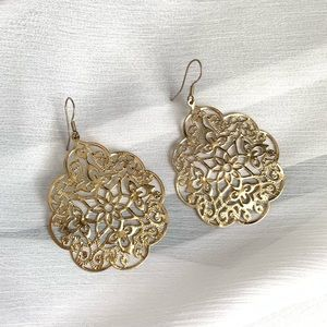 Jewelry - Gold Laser-cut Earrings